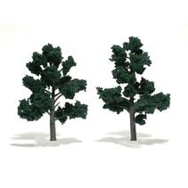 Baum (Fertigmodell) - Dunkelgrün 2er Pack  (klein)