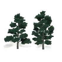Baum (Fertigmodell) - Dunkelgrün 2er Pack  (groß)