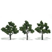 Baum (Fertigmodell) - Mittelgrün 3er Pack  (groß)