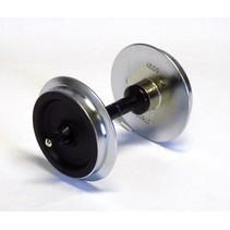 Metallradsatz für Wagen, 35 mm (2 Stck., verchromt)