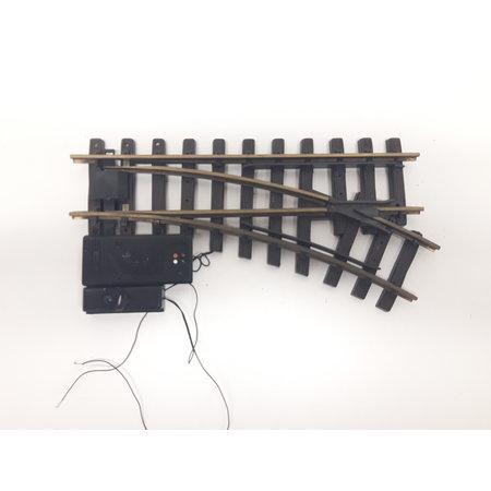 LGB Elektrische Weiche rechts, R1, 30° digital mit Weichenlaterne (gebraucht)