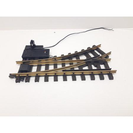 LGB Elektrische Weiche links, R1, 30° digital mit Weichenlaterne (gebraucht)