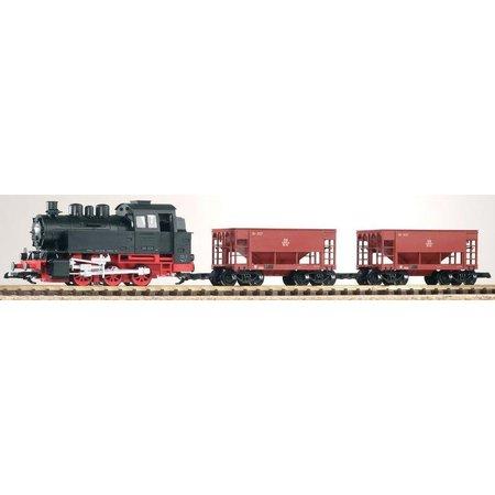 PIKO G Start-Set Güterzug BR 80 + 2 Schüttgutwagen