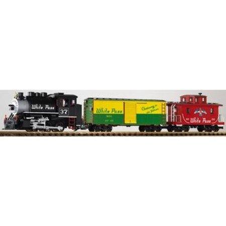 PIKO Start-Set Güterzug mit Dampflok White Pass & Yukon (inkl. Sound+Dampf)