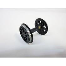 Radsatz ohne Zahnrad für US Dampflok schwarz