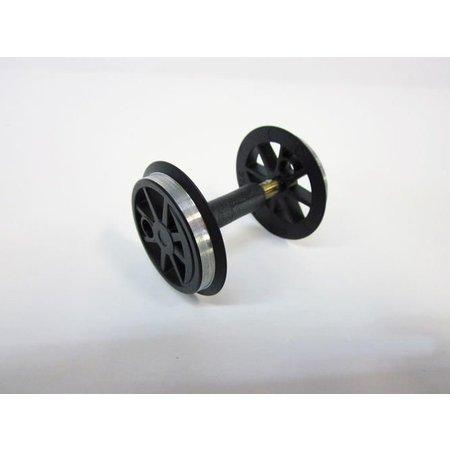 PIKO Radsatz ohne Zahnrad für US Dampflok schwarz