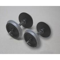 Metallradsatz für Wagen, 30 mm (2 Stck., verchromt)