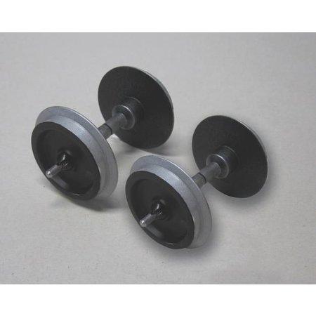 PIKO Metallradsatz für Wagen, 30 mm (2 Stck., verchromt)