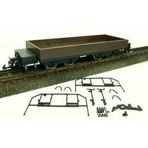 Flachwagen grau, LüP 410mm
