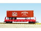 USA TRAINS Piggyback Flatcar Pickwick Ale mit Trailer