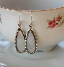 Lacom gems White labradorite earrings