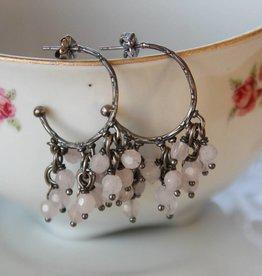 Carré Jewellery Oorbellen met roze quarts