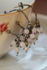 Carré Jewellery rose quarts earrings