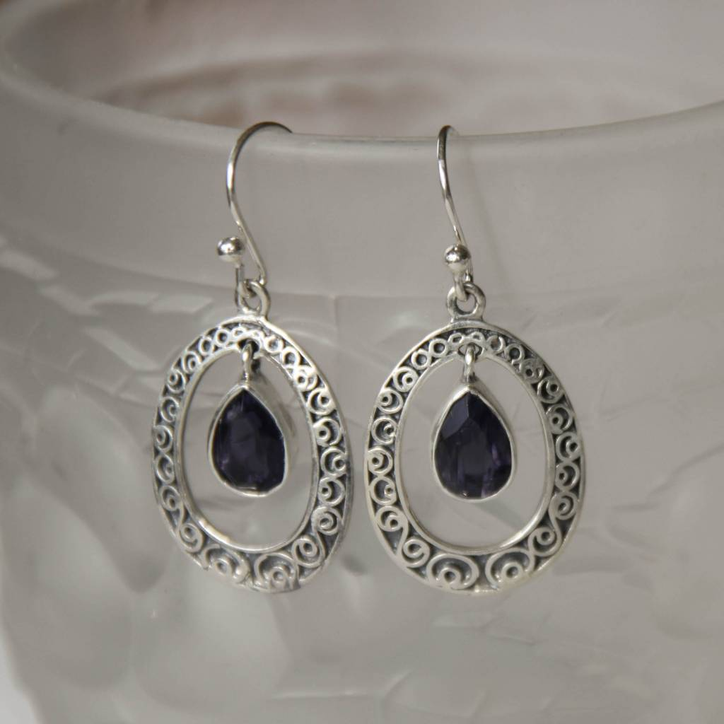 Lacom gems Silver Sodalite earrings