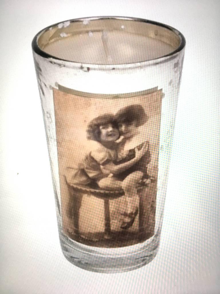 Meander Glas met kaars