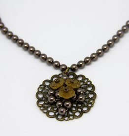 Brown Helga Verlinden necklace