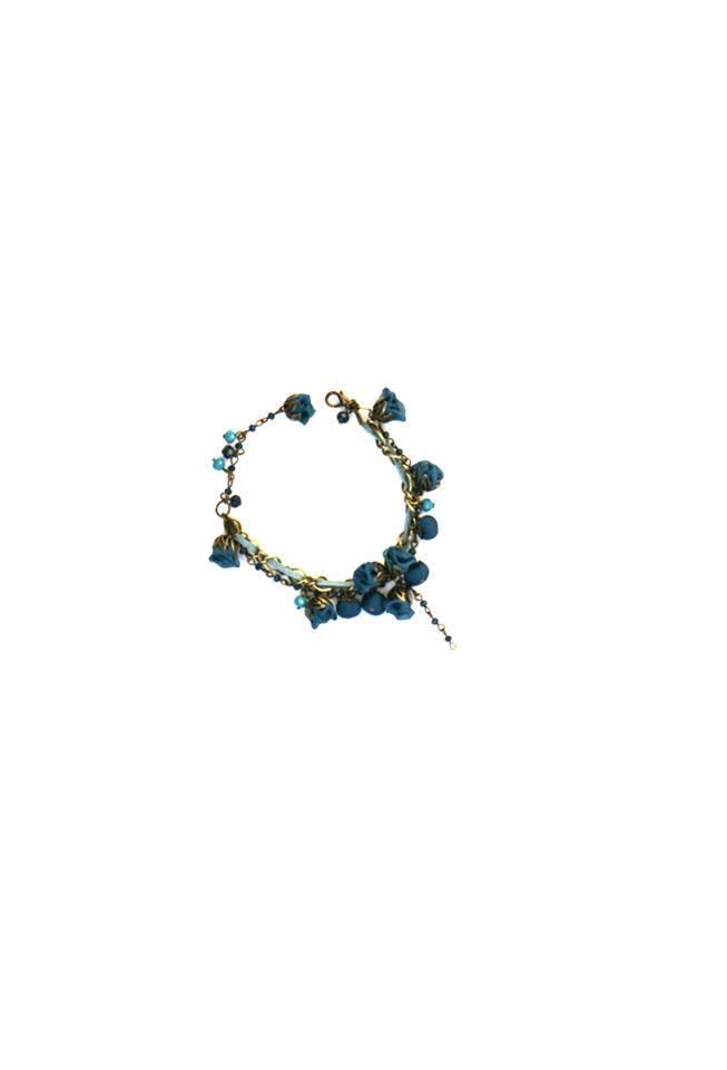 Ana Popova Blauwe armband Jade