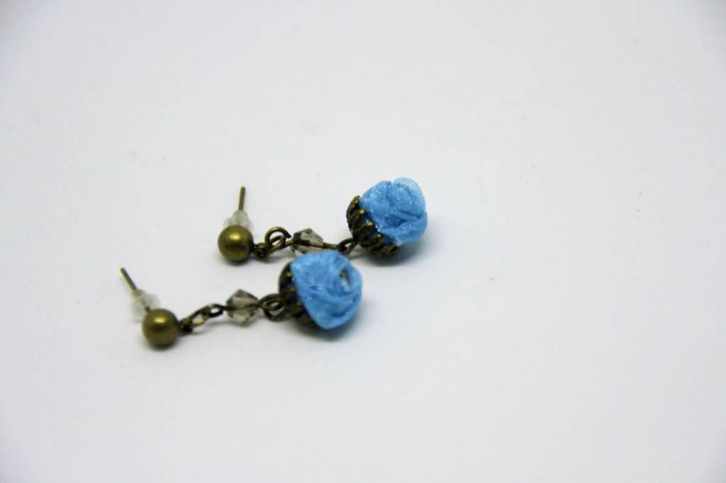 Ana Popova Blue christelle earrings
