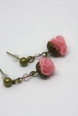 Ana Popova Pink christelle earrings