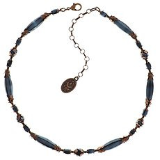 Konplott Blue necklace,collection Pineapple