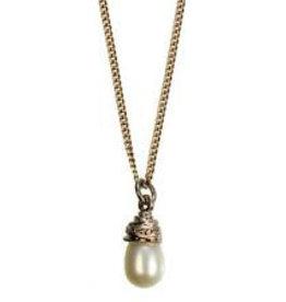 Hultquist Collana con perla bianca