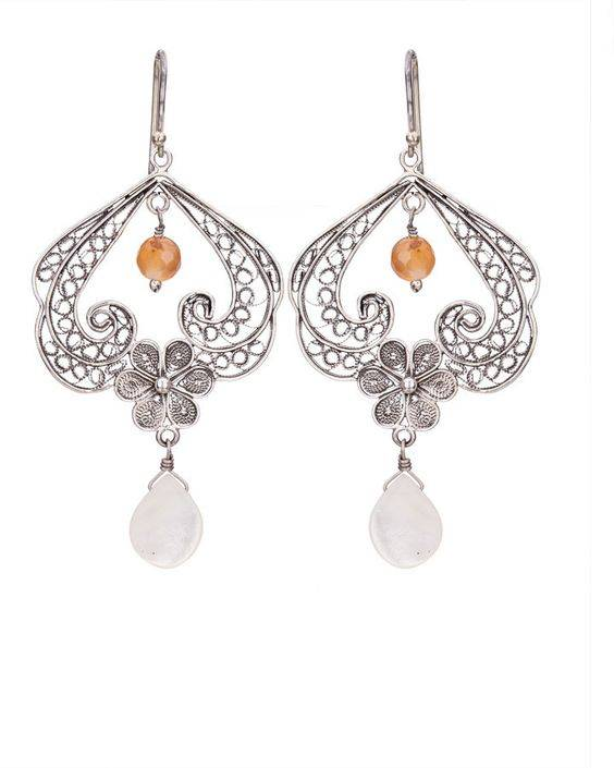 Yvone Christa Filligree earrings