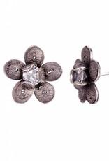 Yvone Christa Zilveren bloemenoorbel van Yvone Christa