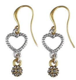 Hultquist Hultquist heart earrings