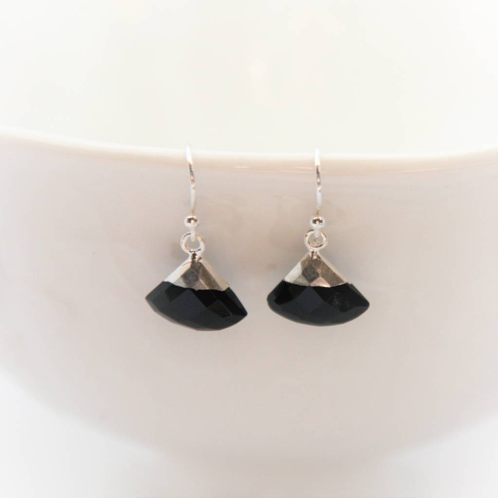 Lacom gems Silver earrings with Onyx