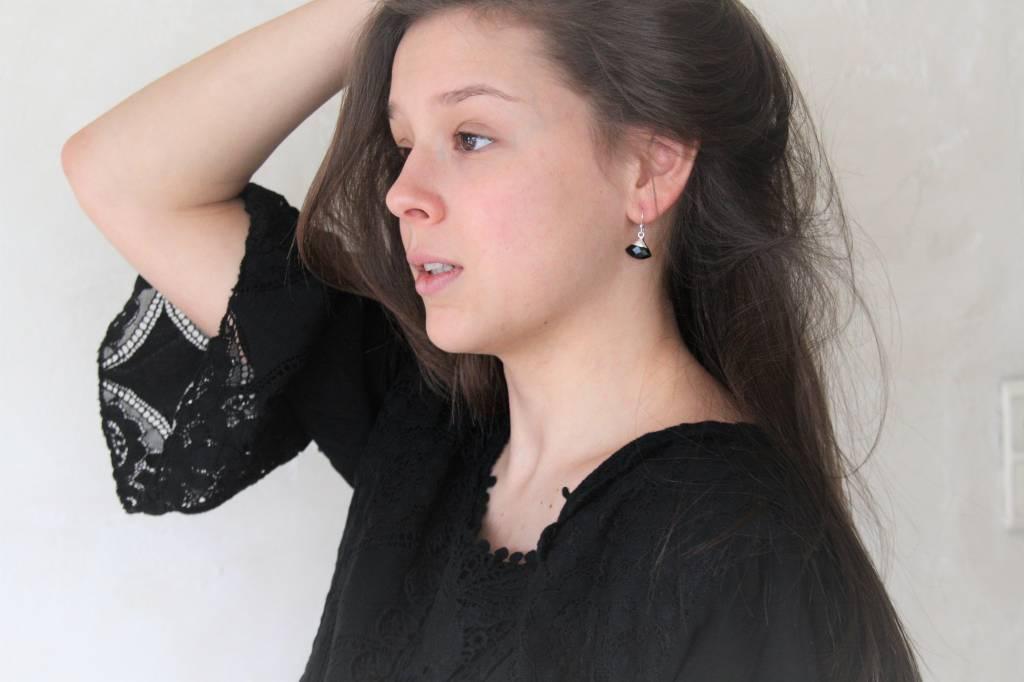 Lacom gems Zilveren oorbellen met Onyx