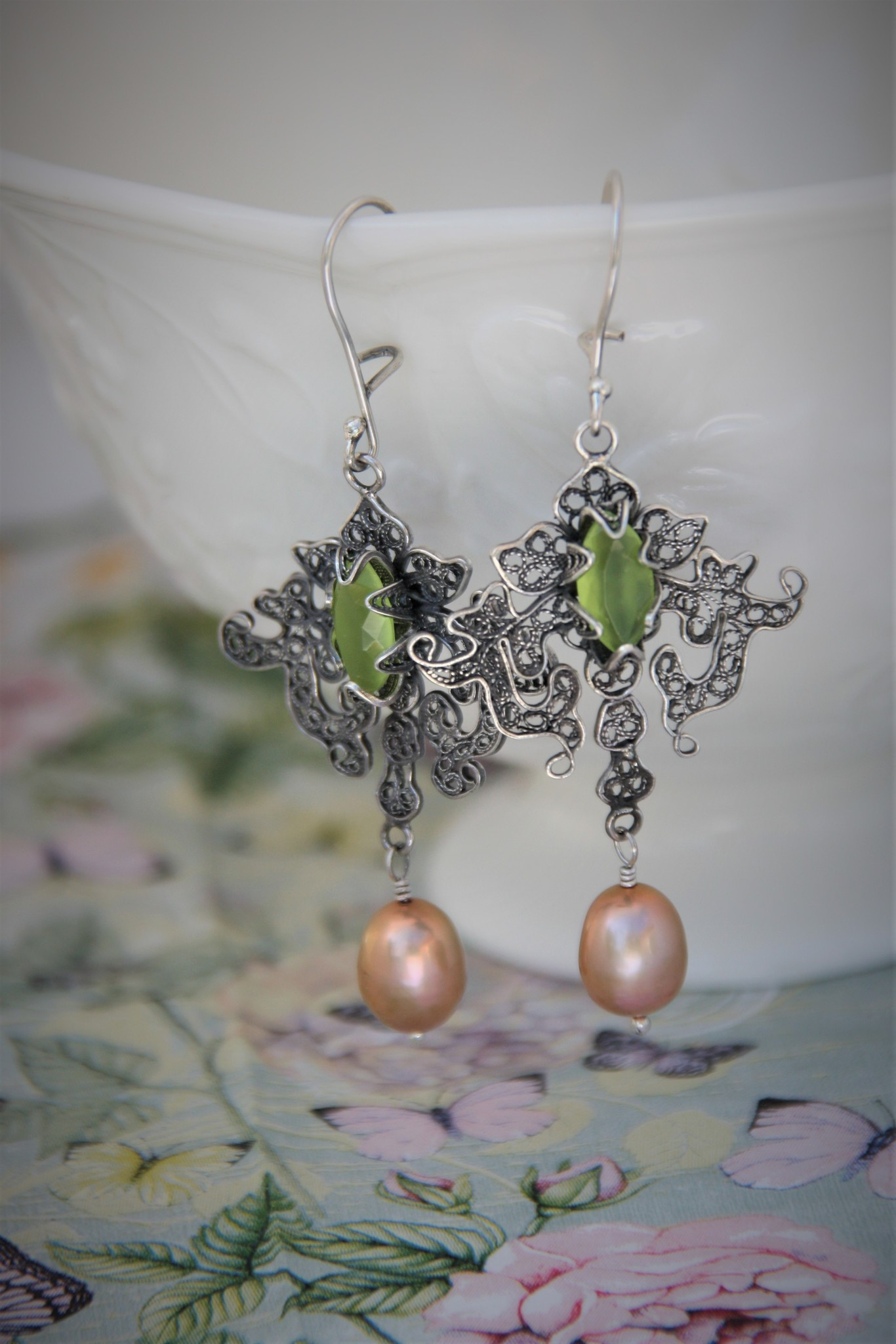Yvone Christa Silver  earrings , Fantasia collection
