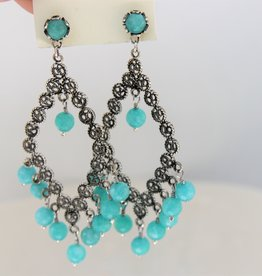 Yvone Christa Hanging earrings with Tosca