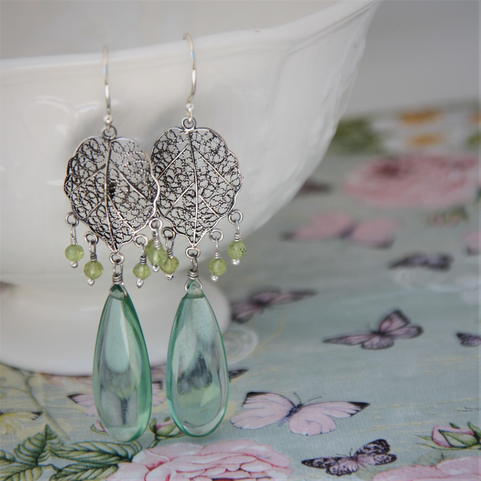Yvone Christa Zilveren oorbellen met filigraan