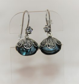 Yvone Christa Blue Aqua Lemoria earrings