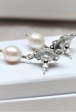 Yvone Christa White pearl earrings