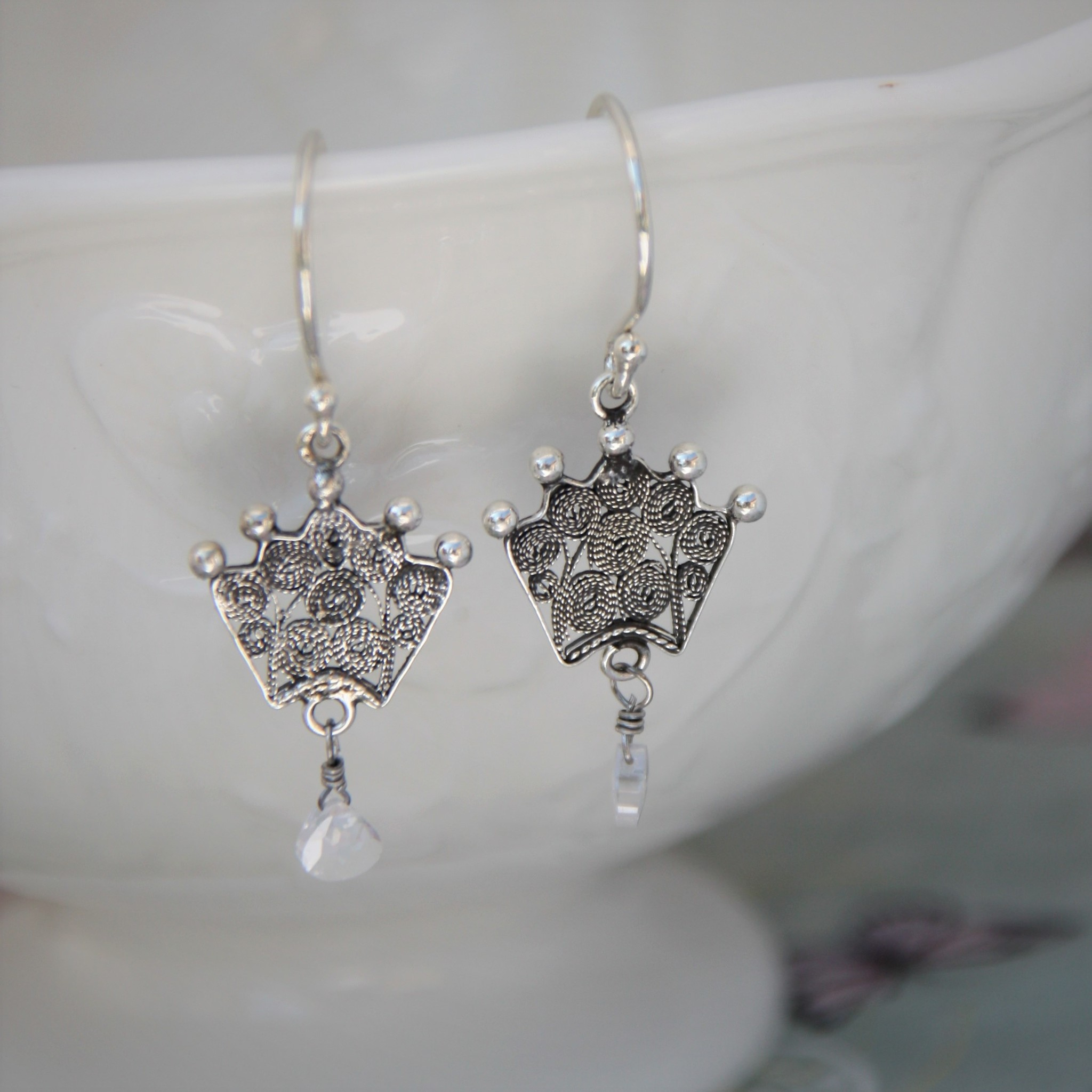 Yvone Christa Silver Yvone Christa earrings with Zirconium