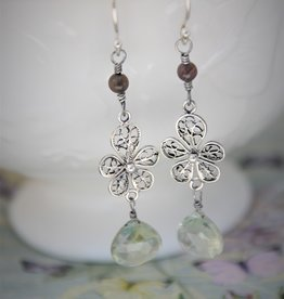 Yvone Christa Long filigree earrings