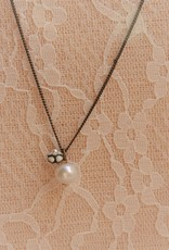 Eric & Lydie Delicate necklace  with white pearl