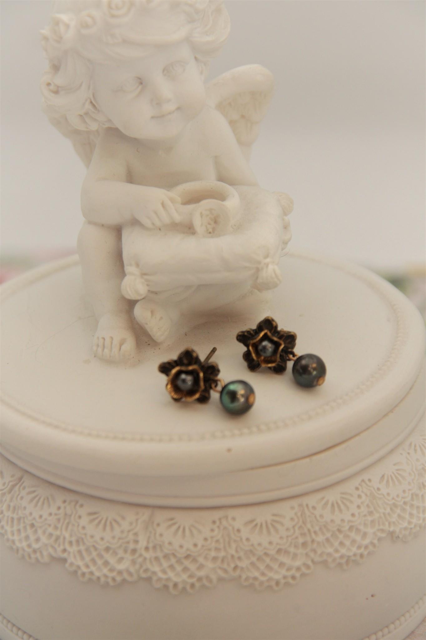 Eric & Lydie Kleine bronzen oorbellen