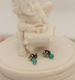 Eric & Lydie Green post flower earrings
