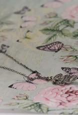 Yvone Christa Fijne ketting van Yvone Christa met hanger met grijze parel