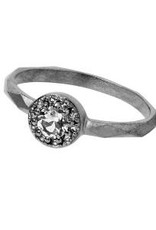 Carré Jewellery Zilveren ring met witte Topaas