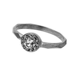 Carré Jewellery White Topaz silver ring