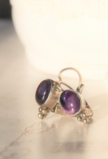 Carré Jewellery Silver Carré earrings with Amethyst
