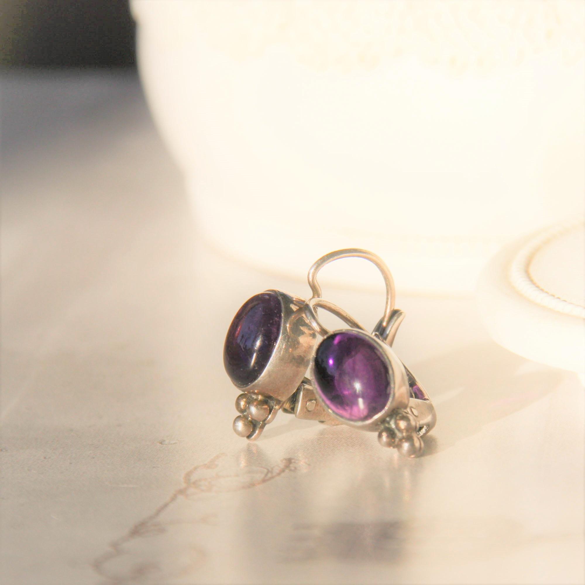 Carré Jewellery Orecchini argenti con Amethyst