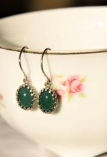 Carré Jewellery Green agate earrings