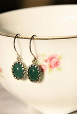 Carré Jewellery Orecchini argenti con agate verde