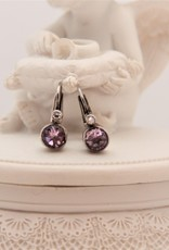 Carré Jewellery Silver Carré earrings with Amethyst