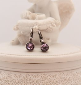 Carré Jewellery Zilveren oorbellen met Amethyst van Carré