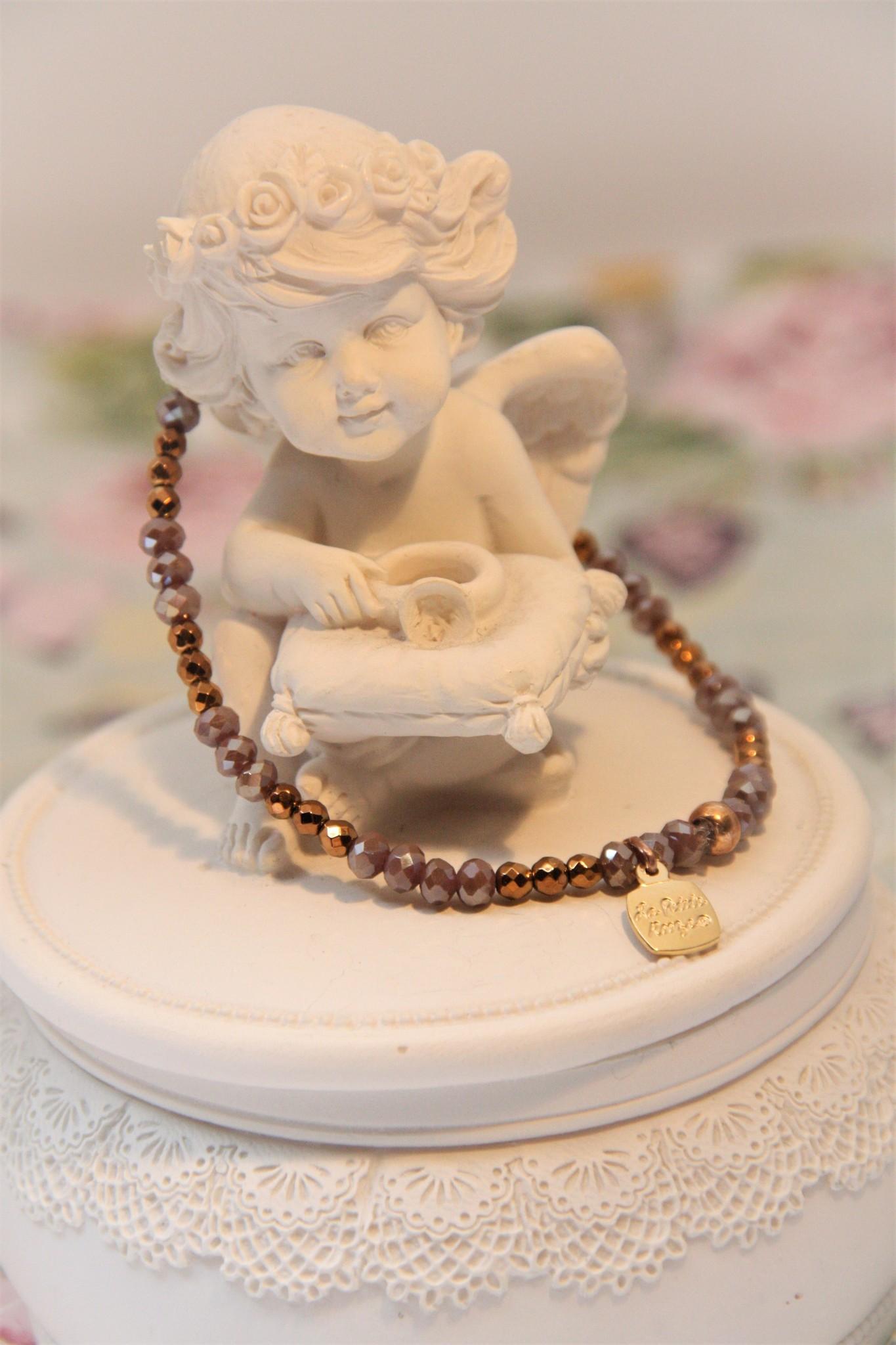 La Petite Rooze Handgemaakte fantasie armband op elastiek